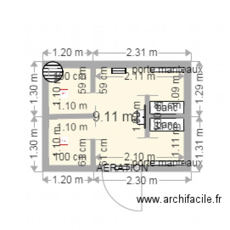 sanitaires situe dans le hangar rempart du midi plan 1 pi ce 9 m2 dessin par 1903. Black Bedroom Furniture Sets. Home Design Ideas