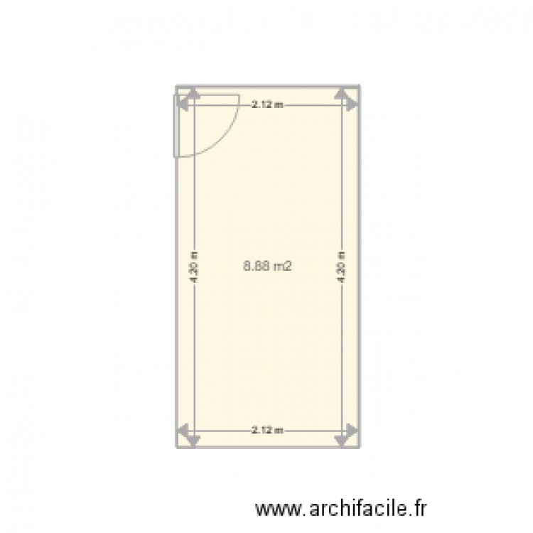 chambre velux plan 1 pi ce 9 m2 dessin par dauphine1313. Black Bedroom Furniture Sets. Home Design Ideas