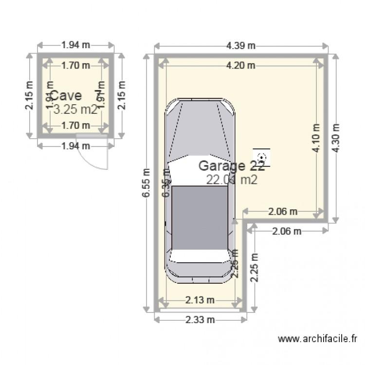 cave et garage plan 2 pi ces 25 m2 dessin par teste1931. Black Bedroom Furniture Sets. Home Design Ideas