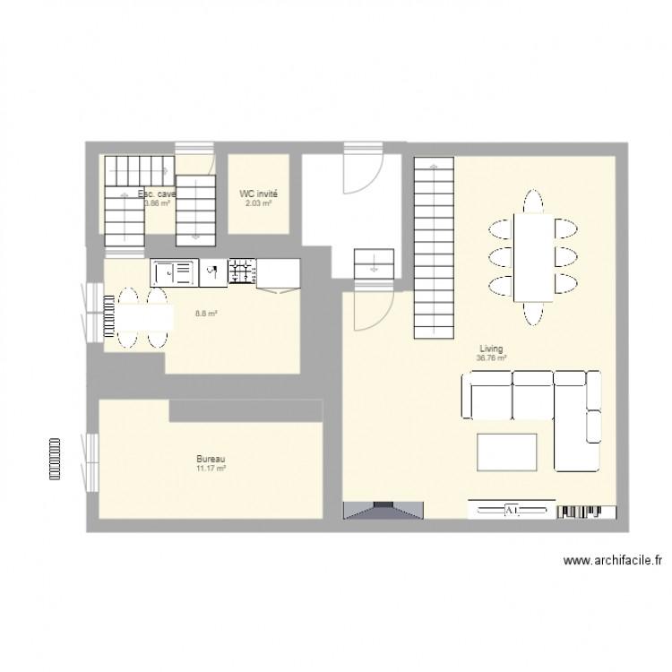 notre maison bon plan 5 pi ces 63 m2 dessin par ambre pottok. Black Bedroom Furniture Sets. Home Design Ideas