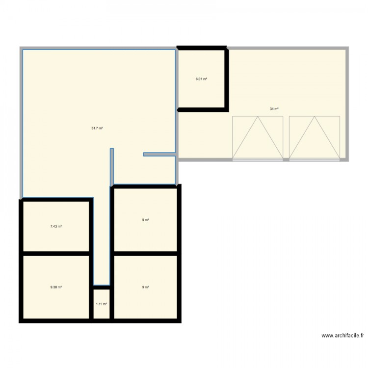 Essai plan 8 pi ces 128 m2 dessin par lekev - Consommation electrique moyenne maison 140 m2 ...