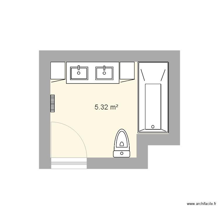 salle de bain plan 1 pi ce 5 m2 dessin par schmollden. Black Bedroom Furniture Sets. Home Design Ideas