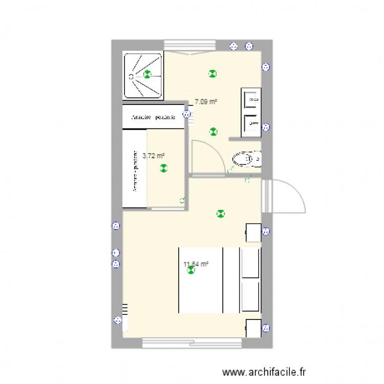 am nagement garage plan 3 pi ces 22 m2 dessin par smallybrown. Black Bedroom Furniture Sets. Home Design Ideas