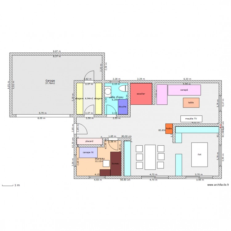 plan maison k et b