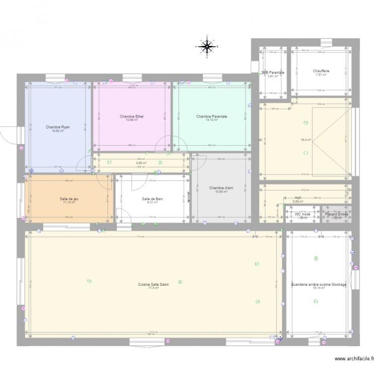 plan teillay chauffage plan 15 pi ces 209 m2 dessin par plan teillay. Black Bedroom Furniture Sets. Home Design Ideas