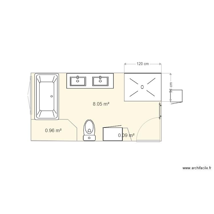 Salle De Bain 3 Plan 3 Pièces 9 M2 Dessiné Par Marcosyl