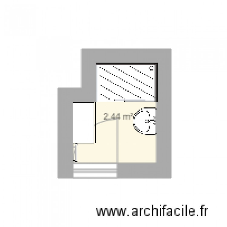salle de bain plan 1 pi ce 2 m2 dessin par aclair2006. Black Bedroom Furniture Sets. Home Design Ideas