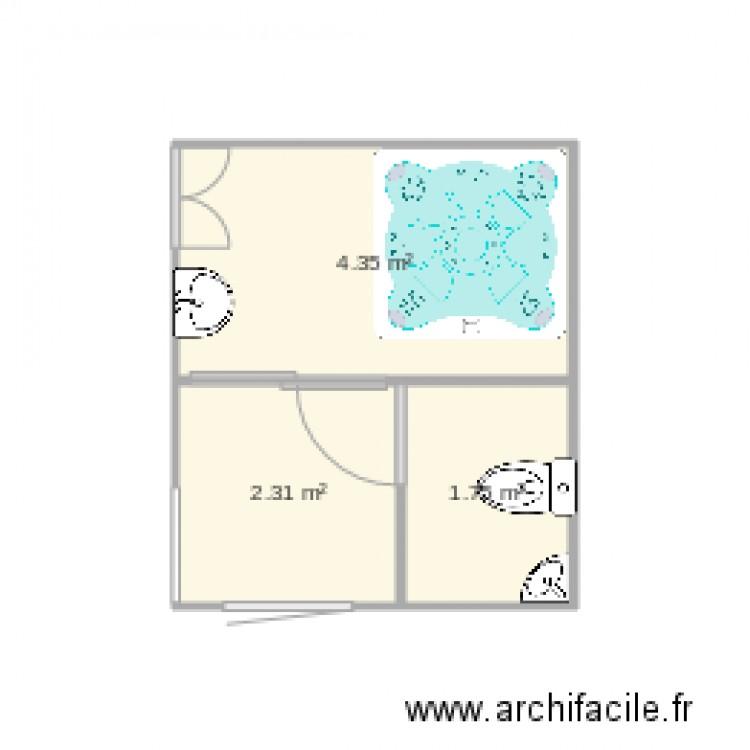 Salle de bain plan 3 pi ces 8 m2 dessin par teresa guevara for Salle de bain 8 m2