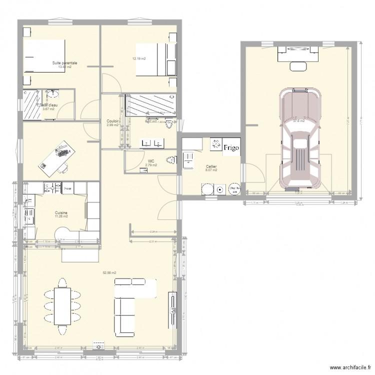 Plan v3 plan 11 pi ces 162 m2 dessin par luckyspikes for 162 plan