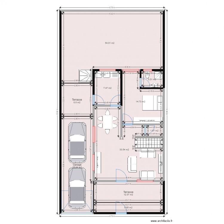 Ma maison plan 10 pi ces 167 m2 dessin par brtmous for Dessine ma maison gratuitement