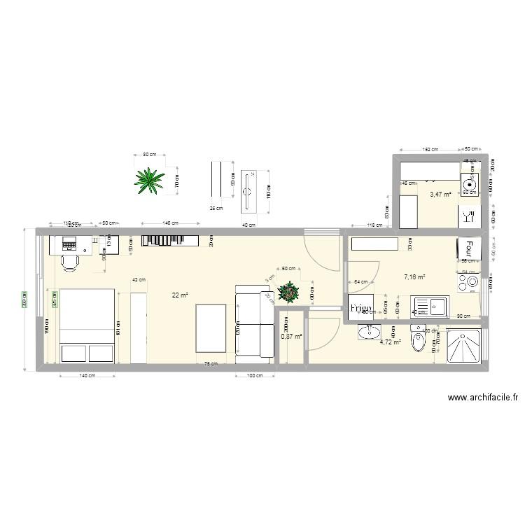 plan appart frejus plan 7 pi ces 37 m2 dessin par marcelkasparian. Black Bedroom Furniture Sets. Home Design Ideas