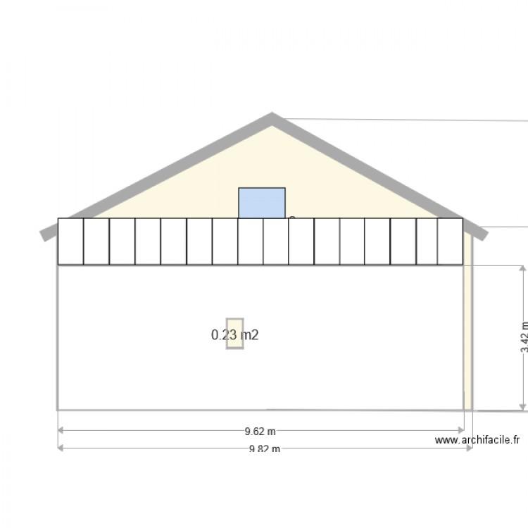 Dp4 plan des facades et des toitures 032 plan 2 pi ces 21 m2 dessin par schillackcyril - Plan des facades et des toitures ...