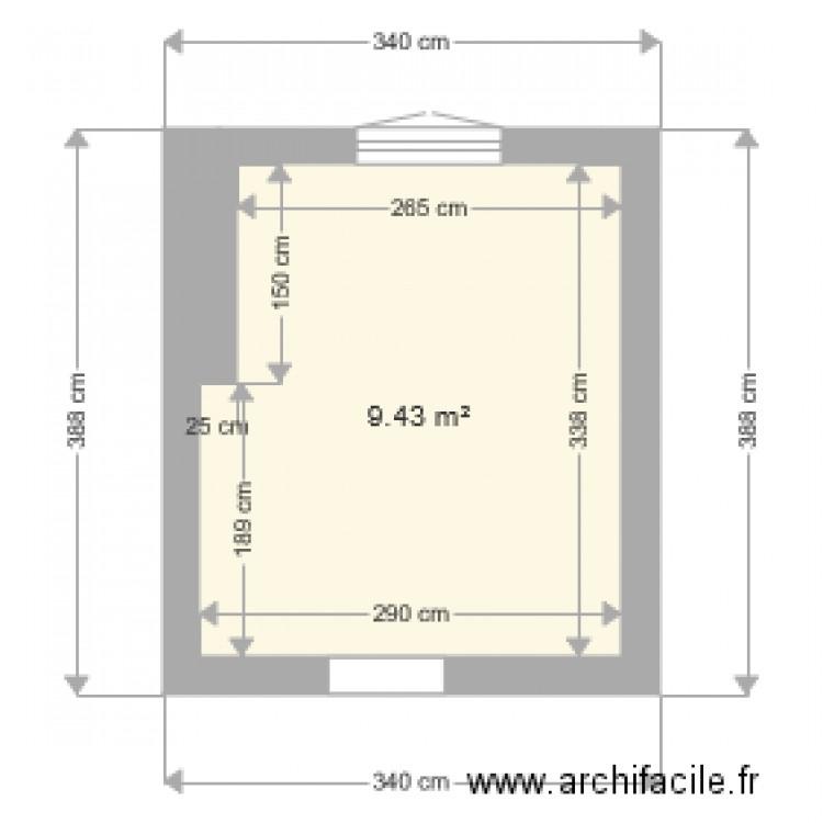 Chambre laurina plan 1 pi ce 9 m2 dessin par rsbtpc for Chambre one piece