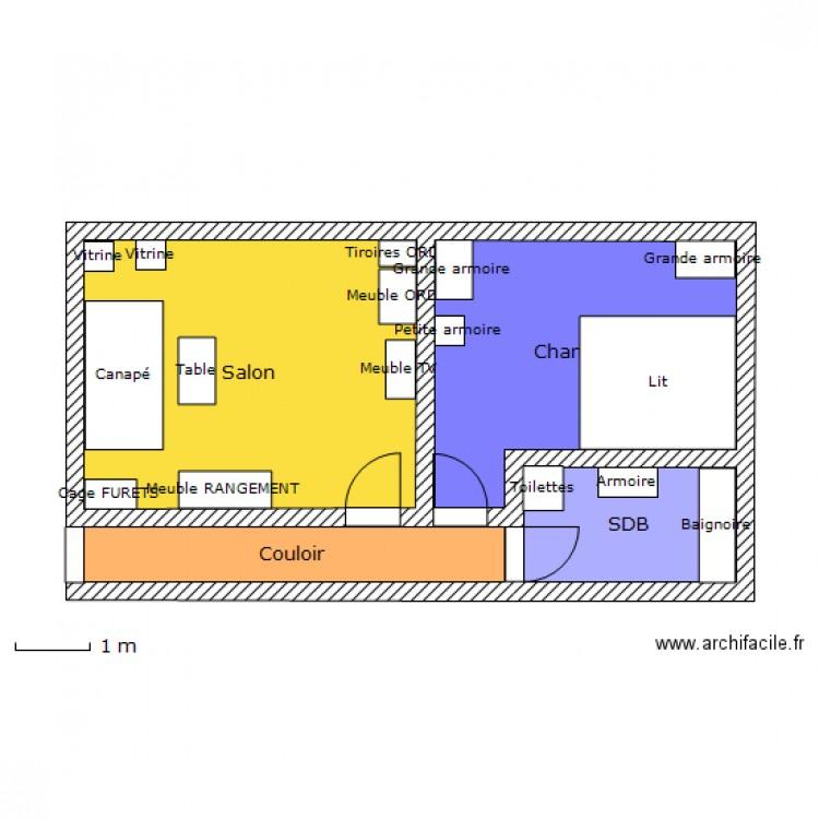 Croquis Pièces Maison : Croquis etage maison plan pièces m dessiné par