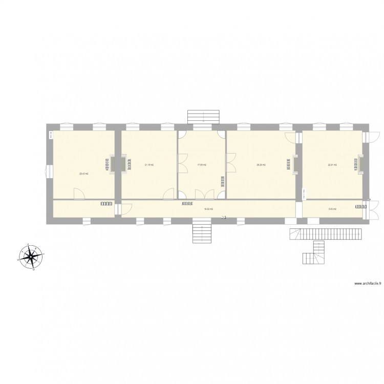 maison vide plan 7 pi ces 140 m2 dessin par usermaxweber. Black Bedroom Furniture Sets. Home Design Ideas