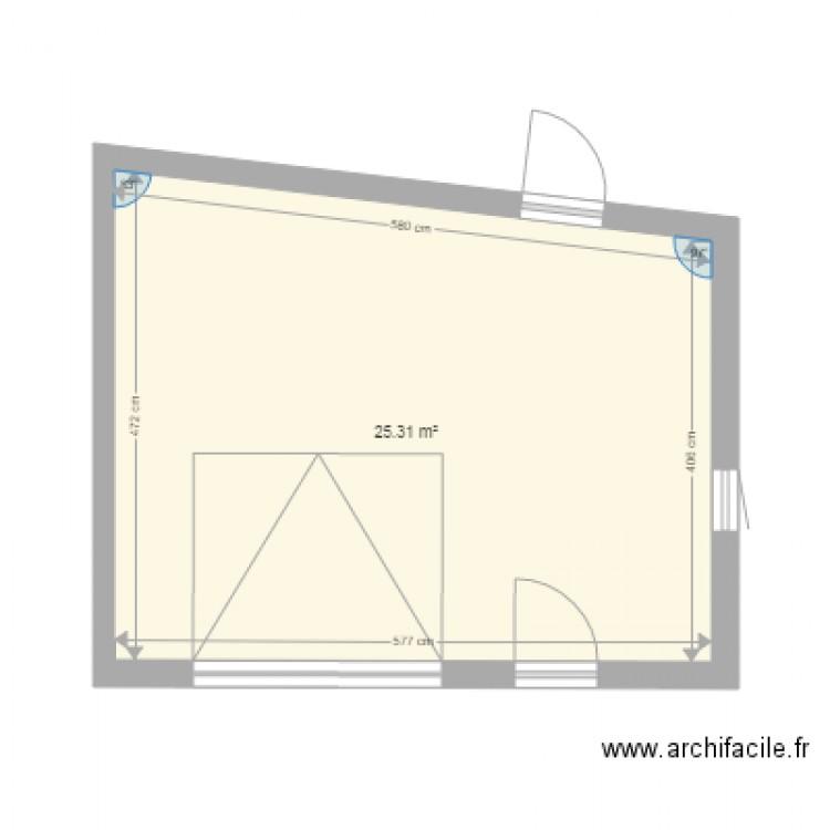 garage exterieur beaumont plan 1 pi ce 25 m2 dessin par francksatin. Black Bedroom Furniture Sets. Home Design Ideas
