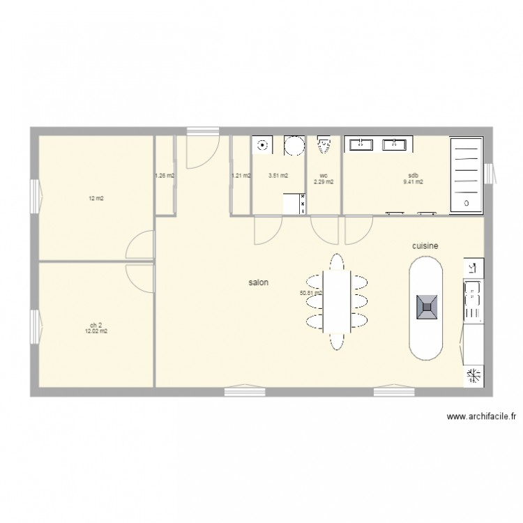 plan appartement 95 m2