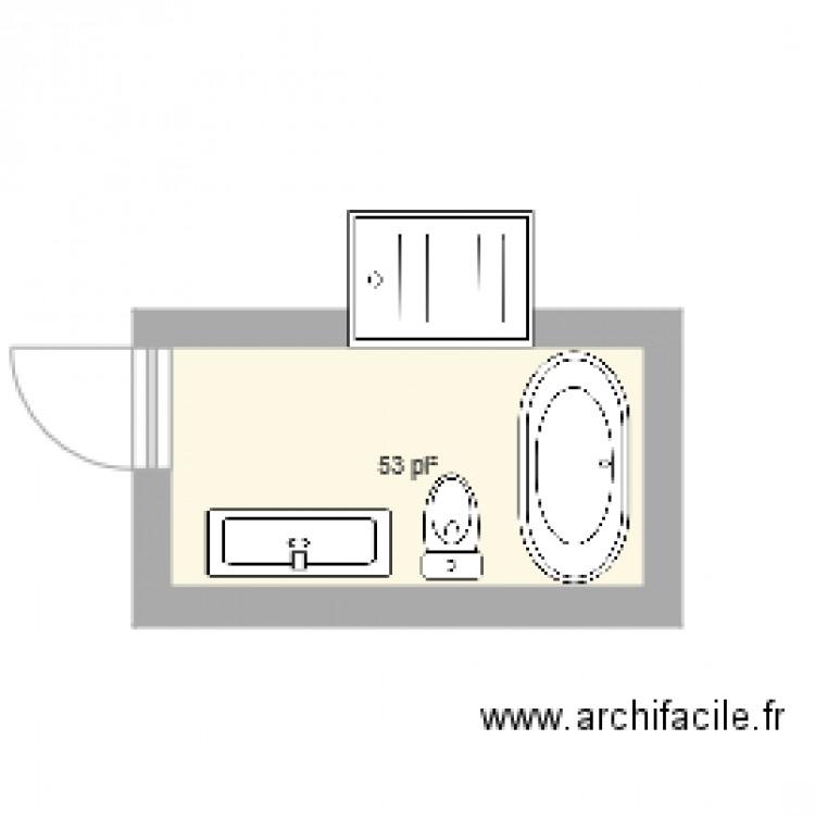 salle de bain plan 1 pi ce 5 m2 dessin par ae. Black Bedroom Furniture Sets. Home Design Ideas