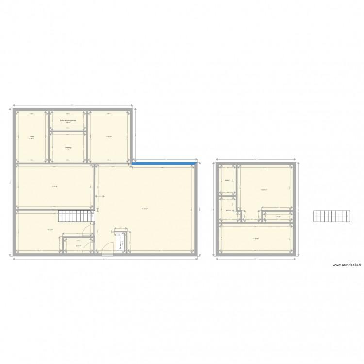 Croquis Pièces Maison : Croquis plan pièces m dessiné par matt