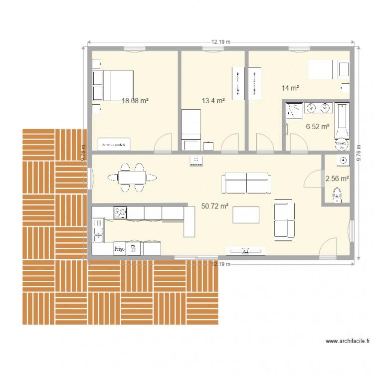 Maison container projet 1 v2 plan 6 pi ces 105 m2 dessin par gigi2878 - Forum maison container ...