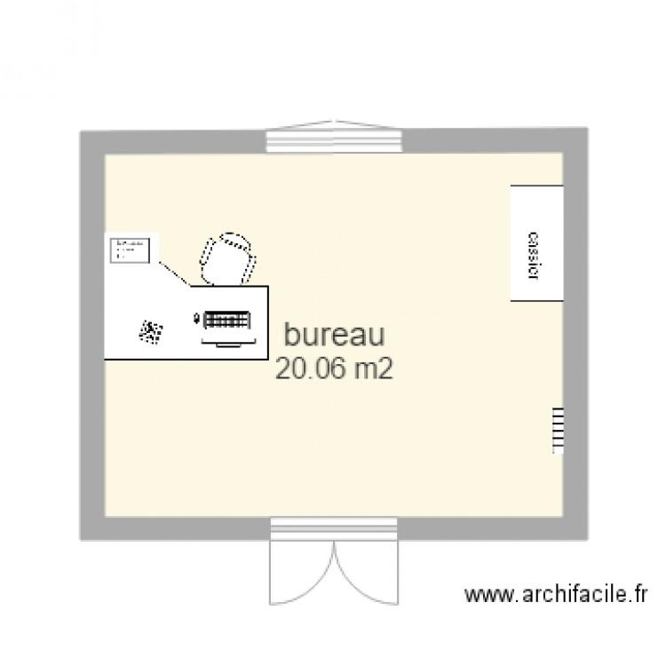 Bureau plan 1 pi ce 20 m2 dessin par grosjeanmichel42100 for Nombre de m2 par personne bureau