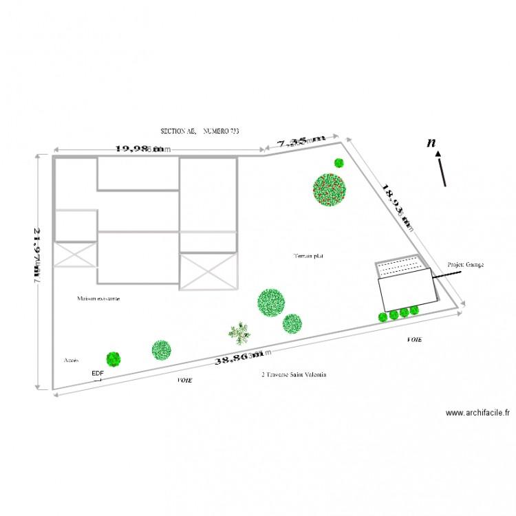 Plan De Masse Garage Bois  Voiture  Plan  Pices  M Dessin
