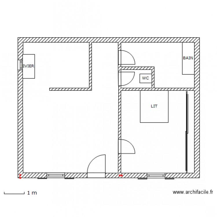 Configuration maison carr cuisine am ricaine plan for Cuisine configuration