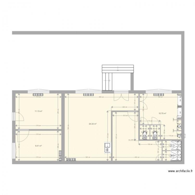 plan bureau des services techniques plan 9 pi ces 72 m2. Black Bedroom Furniture Sets. Home Design Ideas