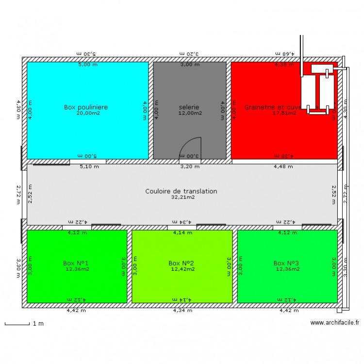 Box pour chevaux avec recuperation d 39 eau plan 7 pi ces for Acheter un box de garage pour le louer