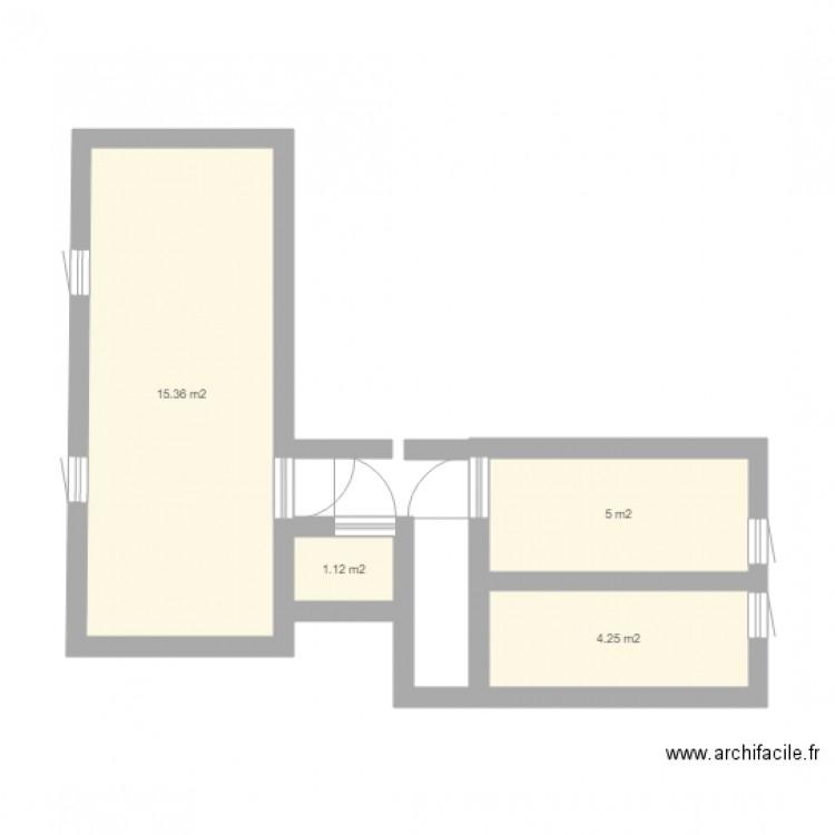 Bureau plan 4 pi ces 26 m2 dessin par alpais for Nombre de m2 par personne bureau