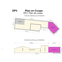 plan de coupe extension 340 cm