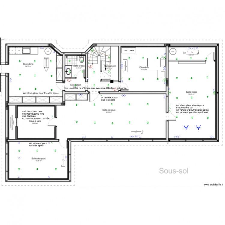 plan electrique sous sol plan dessin par heleneboucher. Black Bedroom Furniture Sets. Home Design Ideas