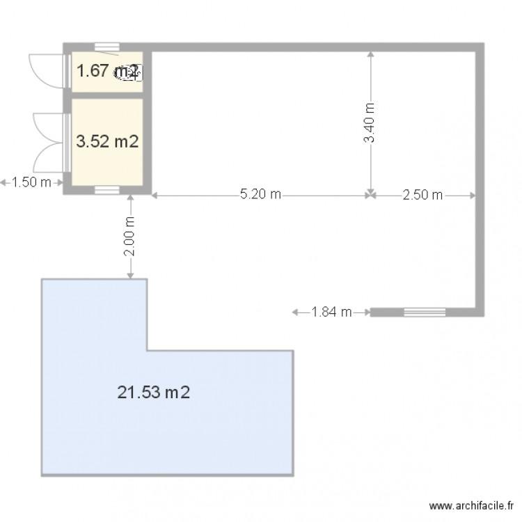 pool house l var2 sans mob avec piscine plan 3 pi ces 27 m2 dessin par tracker33. Black Bedroom Furniture Sets. Home Design Ideas
