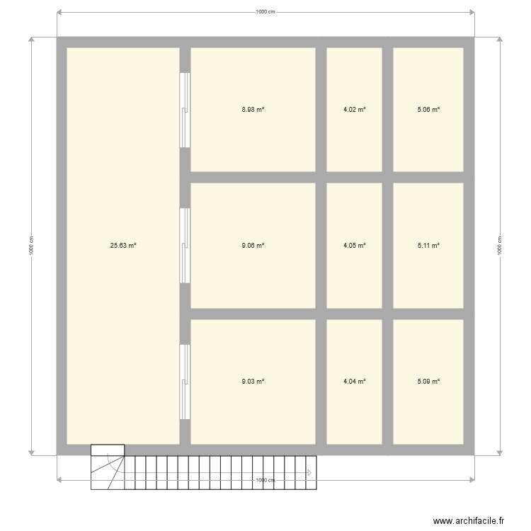 Maison alg rie plan 10 pi ces 75 m2 dessin par mahdi17th for Plan maison algerie