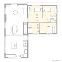 plan maison extension 3 chambres