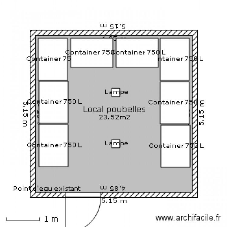 0270 local poubelles plan 1 pi ce 24 m2 dessin par angoulins57. Black Bedroom Furniture Sets. Home Design Ideas