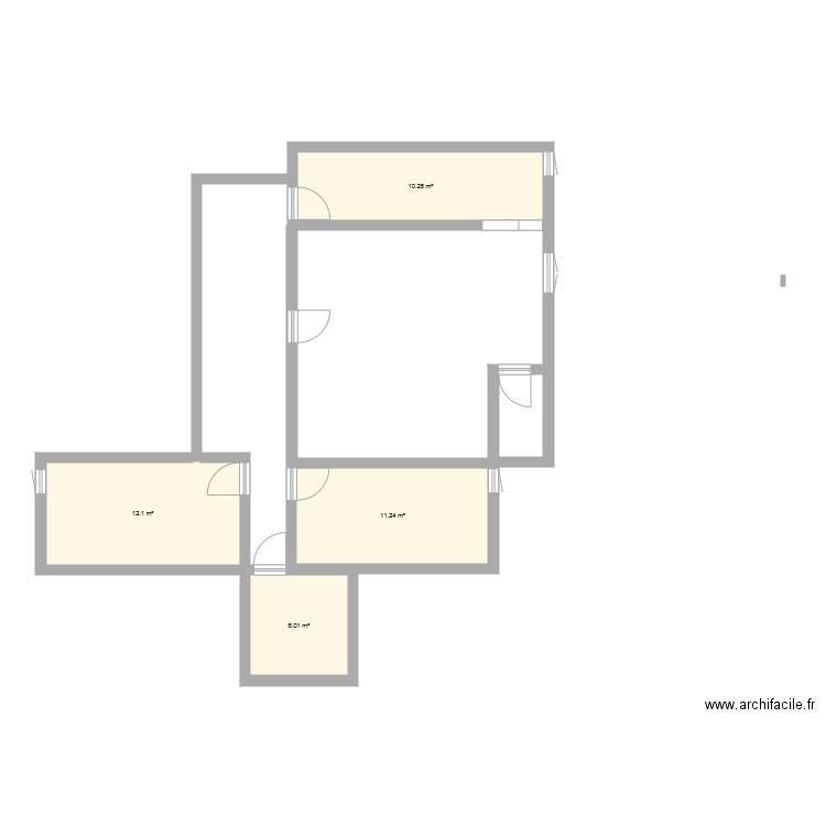 plan de chez moi plan 4 pi ces 40 m2 dessin par le louis 11. Black Bedroom Furniture Sets. Home Design Ideas