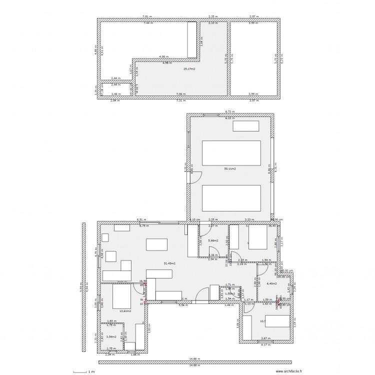 maison 1 avec mezzanine plan 10 pi ces 179 m2 dessin par jouinmahe. Black Bedroom Furniture Sets. Home Design Ideas