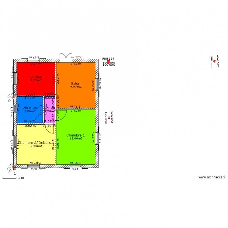 plan maison 6m de facade
