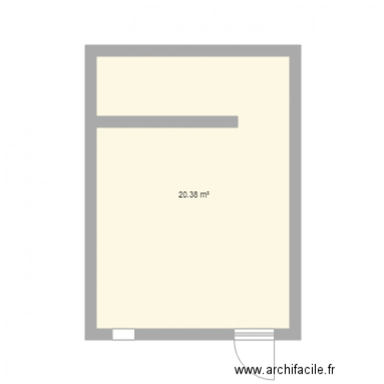 Salle de bain homme plan 1 pi ce 20 m2 dessin par fsestac for Salle de bain homme