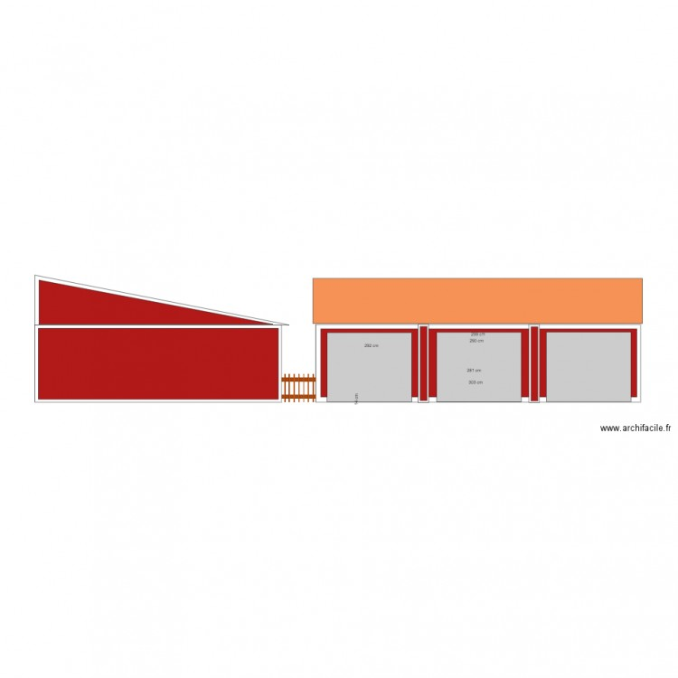 facade garage sud plan dessin par franklu. Black Bedroom Furniture Sets. Home Design Ideas