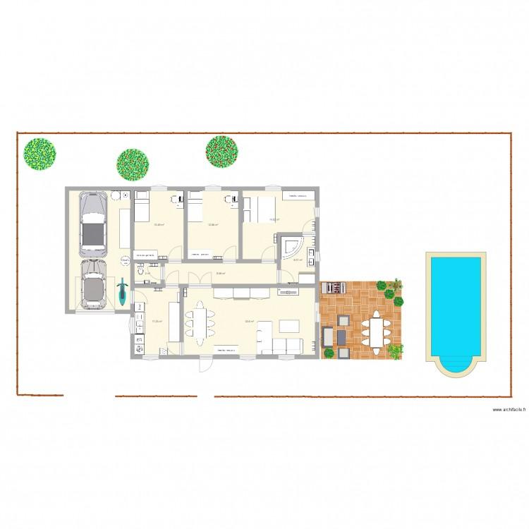 Notre maison plan 9 pi ces 127 m2 dessin par stan87 for Dessine mes plans de maison