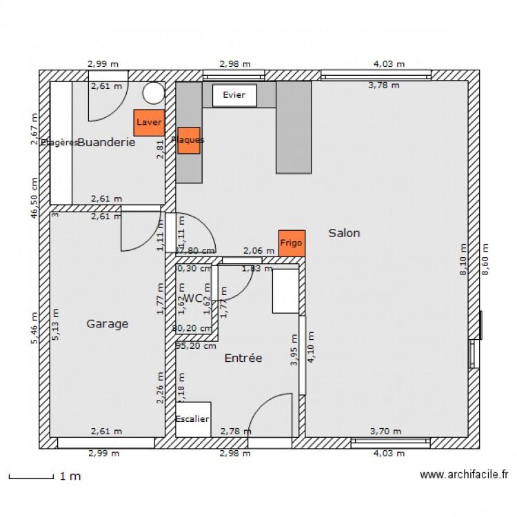 Maison 100m2 plan 5 pi ces 73 m2 dessin par takamine51 for Prix pour construire une maison de 100m2