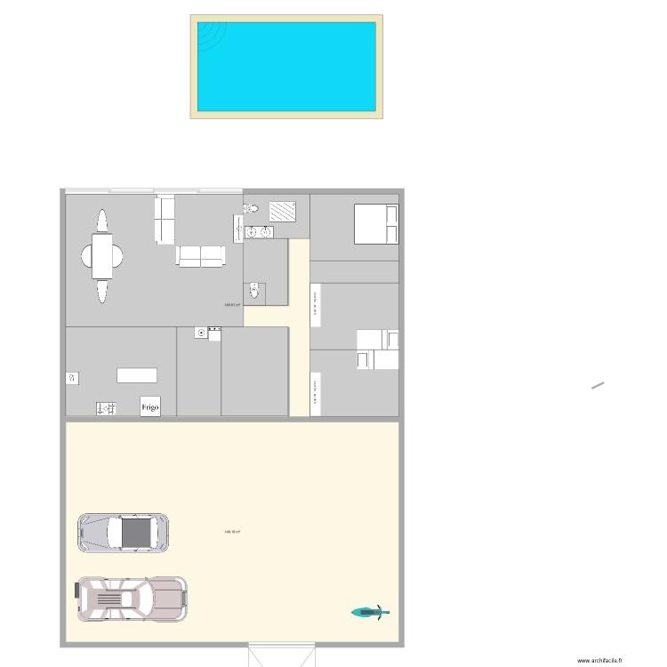 maison plan 2 pi ces 298 m2 dessin par jerome. Black Bedroom Furniture Sets. Home Design Ideas