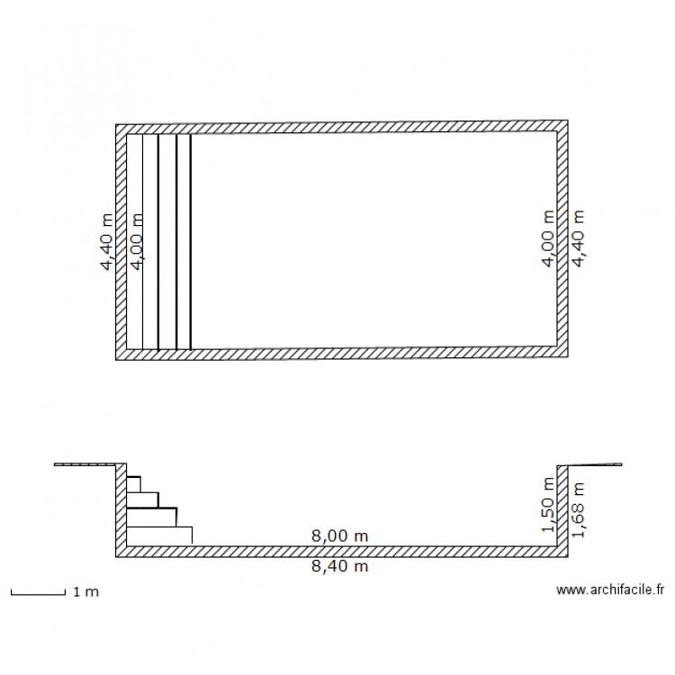 Plan en coupe piscine plan dessin par lmdt for Plan piscine 8x4