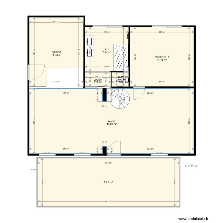 Plan interieur apres travaux plan 6 pi ces 78 m2 dessin for Coller un retroviseur interieur