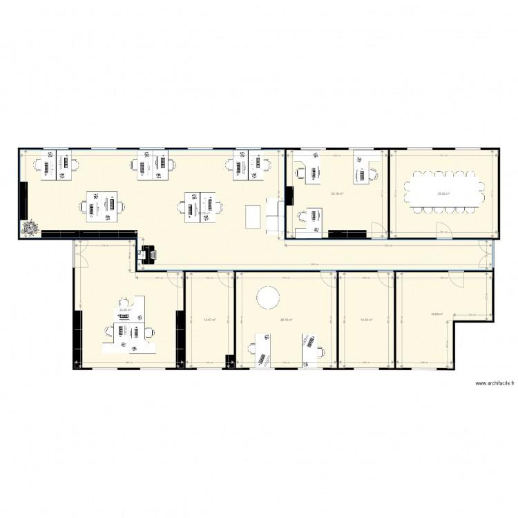 bureaux nanterre version 2 plan 8 pi ces 249 m2 dessin par lpr116118. Black Bedroom Furniture Sets. Home Design Ideas
