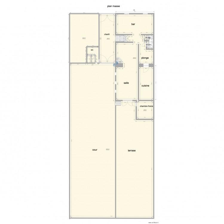 Plan Masse Plan 6 Pi Ces 677 M2 Dessin Par Larenardiere