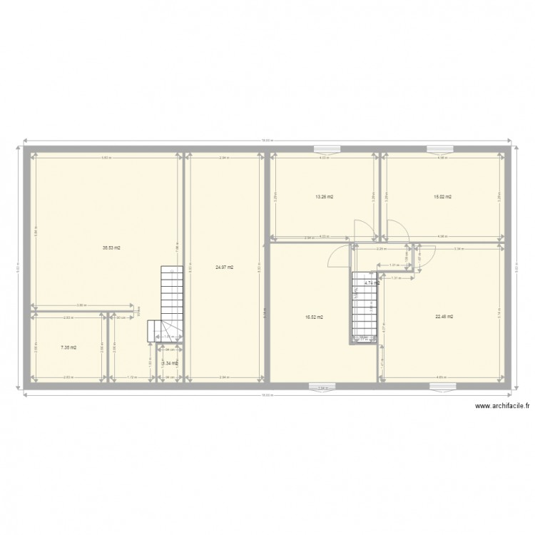 maison mitoyenne etage plan 17 pi ces 289 m2 dessin par agron25. Black Bedroom Furniture Sets. Home Design Ideas