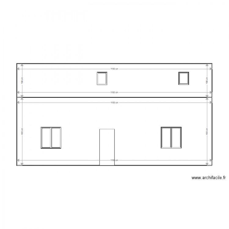 extension fa ade plan 2 pi ces 69 m2 dessin par guillaume02000. Black Bedroom Furniture Sets. Home Design Ideas